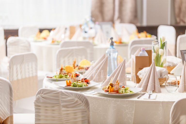 Luxury food on wedding table